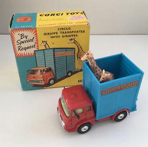 【送料無料】模型車 モデルカー スポーツカー ァーチッパーフィールドキリンスケールスケールボックスneues angebotcorgi toys 503 chipperfields giraffe scale mastab 143 mit ovp with box 1960s