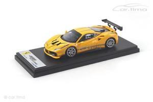 【送料無料】模型車 モデルカー スポーツカー フェラーリチャレンジモデナスマートferrari 488 challenge giallo modena dekor looksmart 143 ls476a