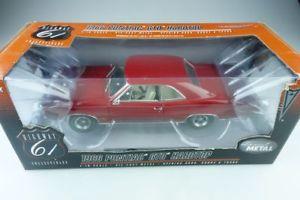【送料無料】模型車 モデルカー スポーツカー ハイウェイポンティアックハードトップクーペボックスhighway 61 us 118 pontiac gto 1966 hardtop coupe mit box 510023