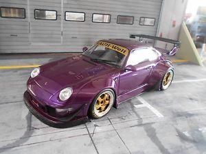 【送料無料】模型車 モデルカー スポーツカー ポルシェワイドボディソフトウェアライセンスラフワールドporsche 911 993 rsr widebody rwb rauh welt violett gt spirit neu 118
