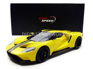 【送料無料】模型車 モデルカー スポーツカー フォードロサンゼルスオートショーtop speed 118 ford gt los angeles auto show 2015 ts0029