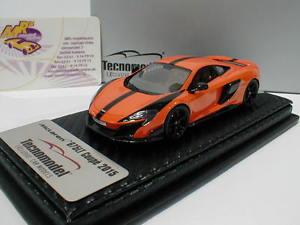 【送料無料】模型車 モデルカー スポーツカー テクノモデルマクラーレンオレンジクーペtecnomodel t43ex01d mclaren 675lt coupe baujahr 2015 in tarocco orange 143