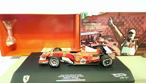 【送料無料】模型車 モデルカー スポーツカー ホットホイールフェラーリモンツァシューマッハイタリアhot wheels ferrari 248 f1 schumacher monza italia gp 2006 190 wins *vi50820