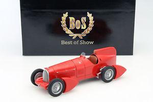 【送料無料】模型車 モデルカー スポーツカー アルファロメオボスモデルalfa romeo tipo b p3 aerodinamica baujahr 1934 rot 118 bosmodels