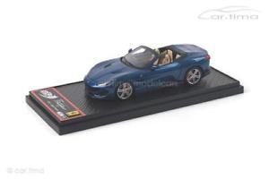 【送料無料】模型車 モデルカー スポーツカー フェラーリポルトフィーノブルアブダビferrari portofino blu abu dhabi 1 of 69 bbr 143 bbrc207d