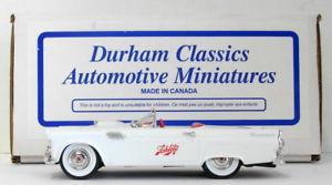 【送料無料】模型車 モデルカー スポーツカー ダーラムスケールフォードサンダーバードスロットホワイトdurham 143 scale dc33 1955 ford thunderbird schlitz 1 of 150 white