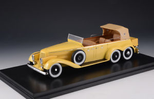 【送料無料】模型車 モデルカー スポーツカー ビクトリアhispano suiza h6a victoria town car yellow 1923 closed glm 143 43215001