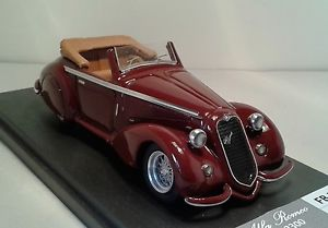 【送料無料】模型車 モデルカー スポーツカー alfa romeo 6c 2300 cabriolet touring 1937 hand built fb model 143