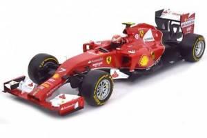 【送料無料】模型車 モデルカー スポーツカー ferrari f14t 2014 k raikkonen hot weels rosso 118