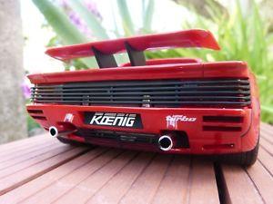 【送料無料】模型車 モデルカー スポーツカー フェラーリツインターボグアテマラヌフkoenig ferrari testarossa twin turbo 118 gt spirit gt124 neuf boite