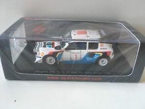 【送料無料】模型車 モデルカー スポーツカー プジョーサファリスパークpeugeot 205 safari n1 spark 143