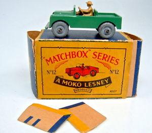 【送料無料】模型車 モデルカー スポーツカー マッチシリーズボックスランドローバーオリーブグリーントップmatchbox 175 serie 12a land rover olivgrn top in b box