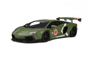 【送料無料】模型車 モデルカー スポーツカー ランボルギーニポンドパフォーマンスオリーブグリーンモデルカーグアテマラlamborghini aventador lb performance oliv grn modellauto 118 gt spirit