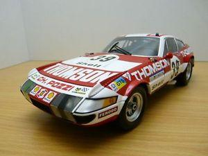 【送料無料】模型車 モデルカー スポーツカー フェラーリルマンferrari 365 gtb4 n39 24h du mans 1973 118