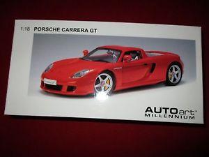 【送料無料】模型車 モデルカー スポーツカー ミレニアムポルシェカレラautoart millennium 78044 118 porsche carrera gt red rot neu ovp