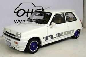 【送料無料】模型車 モデルカー スポーツカー オットースケールルノーターボホワイトotto 118 scale resin ot691 renault 5 gordini turbo  white