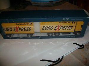 【送料無料】模型車 モデルカー スポーツカー ライオンポストユーロエクスプレストラックscania deutsche post euro express lkw von lion toys 150 neu ovp