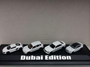 【送料無料】模型車 モデルカー スポーツカー ドバイモデルマイバッハポルシェカイエンアウディホワイトセットmodellset dubai edition maybach porsche cayenne bmw m3 audi r8 wei 187 herpa