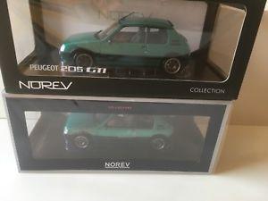 【送料無料】模型車 モデルカー スポーツカー ロットプジョーフェーズフェーズlot 2 peugeot 205 gti griffe norev 118 phase 1 et phase 2