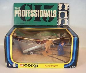 【送料無料】模型車 モデルカー スポーツカー コーギーフォードカプリオボックスcorgi toys 342 ford capri ci5 the professionals in obox 5544