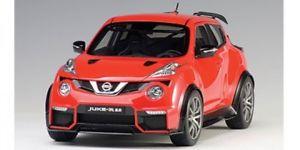 【送料無料】模型車 モデルカー スポーツカー ジュークautoart nissan juke r 20 rot 2016 118 77457