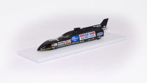 【送料無料】模型車 モデルカー スポーツカー コンフィンneues angebotland speed record car swamp rat 33 1988 con pinna with fin sc143 assemblato