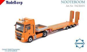 【送料無料】模型車 モデルカー スポーツカー ユーロコンラッドモデルコンman tgx xxl euro 6 semitieflader nooteboom conrad modelle con 7623001