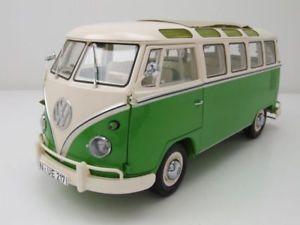 【送料無料】模型車 モデルカー スポーツカー サンババスグリーンホワイトモデルカーvw t1 samba bus 1959 1963 grnwei, modellauto 118 schuco