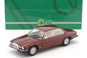 【送料無料】模型車 モデルカー スポーツカー ジャガーシリーズメタリックレッドカルトスケールjaguar xj series iii baujahr 1983 rot metallic 118 cult scale