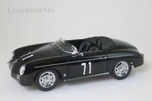【送料無料】模型車 モデルカー スポーツカー ポルシェスピードスティーブマックイーンバージョン#porsche 356 speedster schwarz steve mcqueen version 71 autoart 118 neuovp