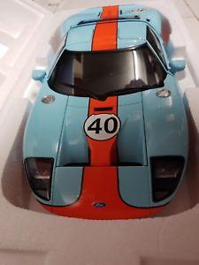 【送料無料】模型車 モデルカー スポーツカー フォード#autoart 80513 ford gt lm 2004 gulf 40 118