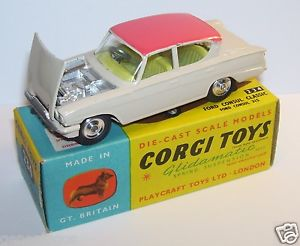 【送料無料】模型車 モデルカー スポーツカー コーギーフォードクラシックmade great britain 1961 corgi toys ford consul classic 315 143 ref 234a in box
