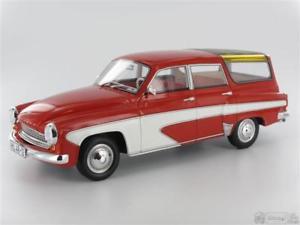 【送料無料】模型車 モデルカー スポーツカー ボスボスキャンピングデラックススケールbos bos037 wartburg 312 camping deluxe 1967, rotwei massstab 118