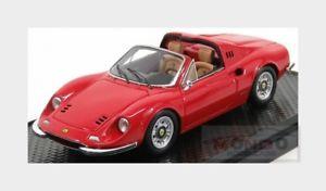 【送料無料】模型車 モデルカー スポーツカー フェラーリディノクモferrari dino 246 gts spider 1969 red bbr 143 bbrc54a