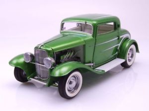 【送料無料】模型車 モデルカー スポーツカー フォードウィンドウホットロッドデュースシリーズ#グリーンモデルカーford 3window hot rod 1932 deuce series 6 grn, modellauto 118 acme