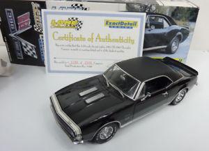 【送料無料】模型車 モデルカー スポーツカー レーンシボレーカマロlane exact detail 118 1967 chevrolet camaro rsss 396 schwarz in ovp a264