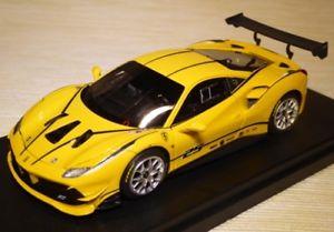 【送料無料】模型車 モデルカー スポーツカー フェラーリチャレンジモデナコルサferrari 488 challenge presentazione giallo modenalivrea corsa looksmart ls476a