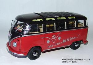 【送料無料】模型車 モデルカー スポーツカー バスschuco 450028401 vwbus t1 2b samba rotschwarz neu ovp