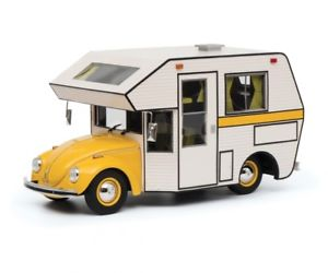 【送料無料】模型車 モデルカー スポーツカー ホームビートルフォルクスワーゲンビートルエンジンキャンパーvolkswagen kfer motorhome gelb beetle camper 118 resin pro schuco 118