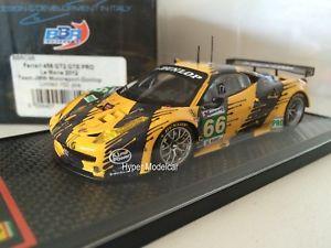 【送料無料】模型車 モデルカー スポーツカー モデルフェラーリグアテマラルマンbbr models 143 ferrari 458 gt2 gte pro 66 24h le mans 2012 artbbrc98
