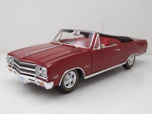 【送料無料】模型車 モデルカー スポーツカー シボレーモデルカーchevrolet chevelle z16 convertible 1965 rot, modellauto 118 acme