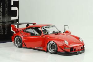 【送料無料】模型車 モデルカー スポーツカー ポルシェソフトウェアライセンスラフワールドレッド1996 porsche 911 993 rwb rauhwelt rot 118 autoart 78153