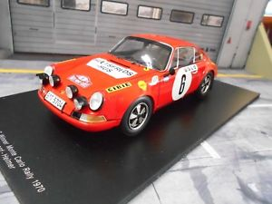 【送料無料】模型車 モデルカー スポーツカー ポルシェモンテカルロラリー#シェルスパークporsche 911 s st rallye monte carlo 1970 6 winner waldegaard shell spark 118