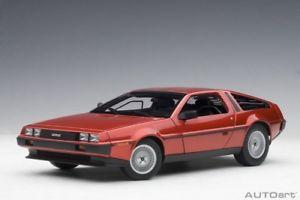 【送料無料】模型車 モデルカー スポーツカー メタリックレッドautoart 79918 118 delorean dmc12 1981 metallic red neu