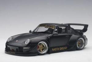 【送料無料】模型車 モデルカー スポーツカー ポルシェマットブラックゴールドホイール