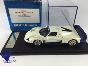 【送料無料】模型車 モデルカー スポーツカー マセラティマセラティ143 abc brianza 184 no bbr maserati mc12 stradale 2004