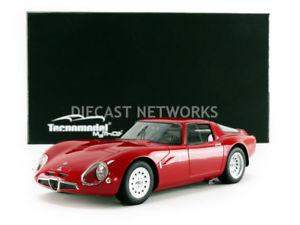 【送料無料】模型車 モデルカー スポーツカー テクノモデルアルファロメオプレスリリースtecnomodel mythos 118 alfaromeo guilia tz2 press version 1965 tm1865a