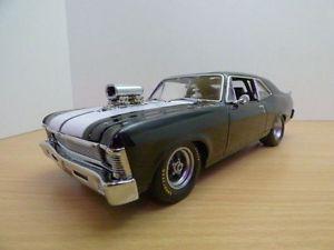 【送料無料】模型車 モデルカー スポーツカー シボレーノバキングスノワールchevrolet nova dragster 1320 kings noir 1969 118