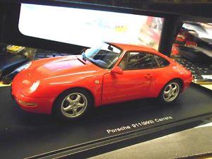 【送料無料】模型車 モデルカー スポーツカー ポルシェカレーペインドporsche 911 993 carrera coupe 1995 indisch red rot autoart 78132 rar 118