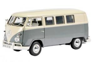 【送料無料】模型車 モデルカー スポーツカー ビューバスグレーホワイトschuco vw t1 bus, grauwei 118 450037500